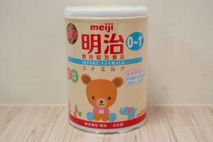 台湾製の明治粉ミルク