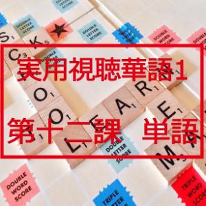 新版実用視聴華語vol.1第十二課-単語と日本語訳