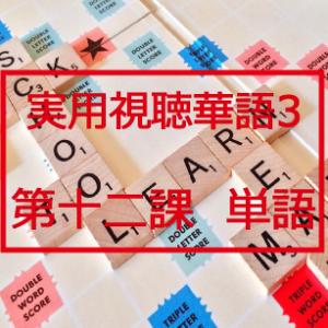 新版実用視聴華語vol.3第十二課-単語と日本語訳